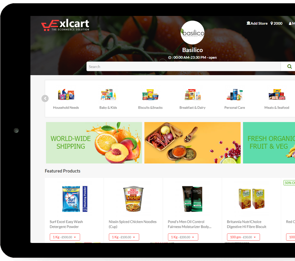 Instacart Clone | Instacart Clone Script | Grocery App