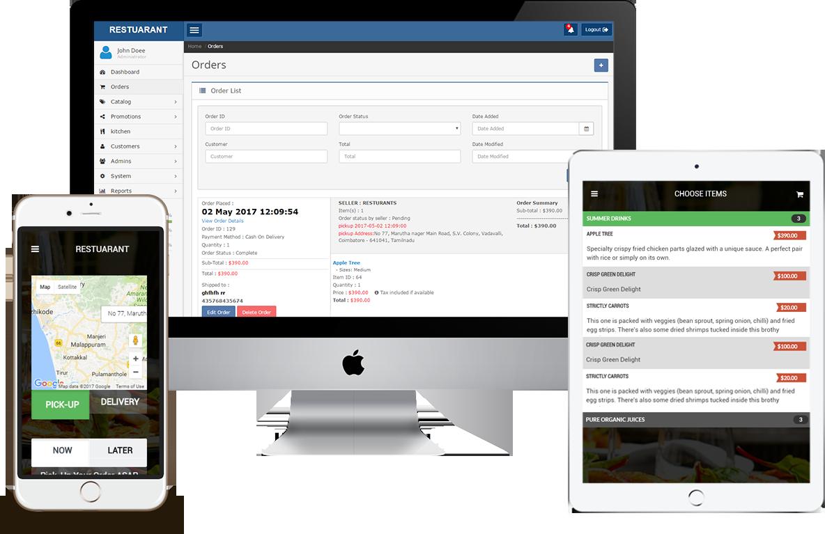 Restaurant Kitchen Order System food online order system | foodesoft